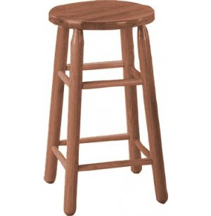 Troutman Solid Wood Lab Stool - Medium Oak