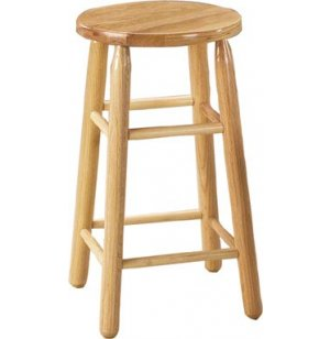 Solid Wood Lab Stool - Natural