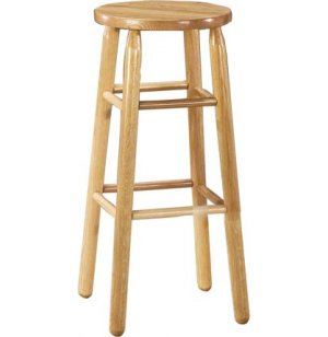 Troutman Solid Wood Lab Stool - Natural