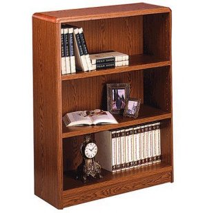 Radius-Edge Laminate Bookcase