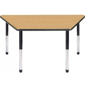 Dura Heavy Duty Adj. Standing School Table - Trapezoid