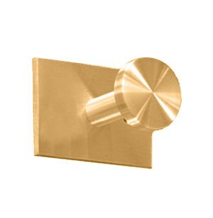 Single Satin-Brass Coat Hook