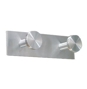 Double Coat Hook - Satin-Aluminum