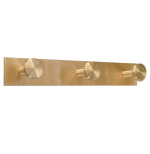 Triple Satin-Brass Coat Hook