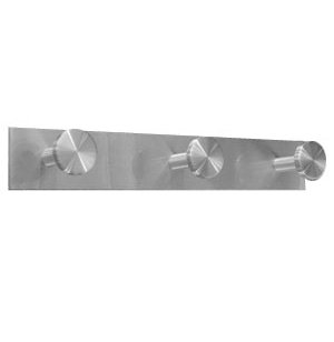 Triple Satin-Aluminum Coat Hook