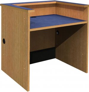 Ultima Patron Desk with Recessed Worksurface