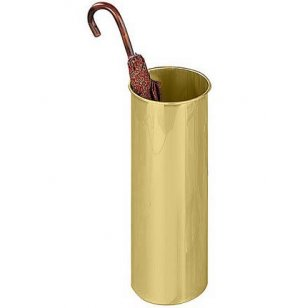 Round Satin Brass Umbrella  Holder, cap. 9