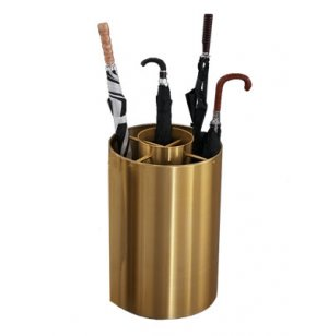 Full/Tote Size Satin Brass Umbrella Stand