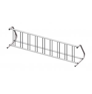 Commercial Bike Rack - 9 Capacity, Galvanized