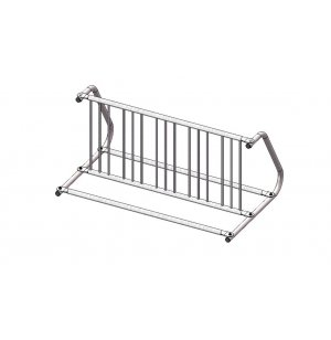 Double-Sided Commercial Bike Rack - 10 Capacity, Galvanized