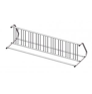 Double-Sided Commercial Bike Rack - 18 Capacity, Galvanized