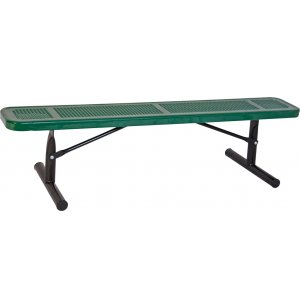 6' Team Bench Perforated Surface