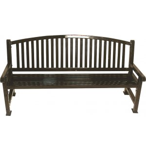 6-Foot Outdoor Savannah Bench with Bow Back