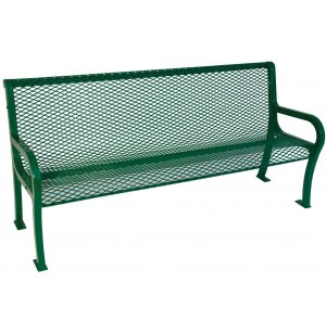 8' Lexington Outdoor Bench With Back, Diamond Cut