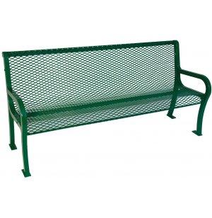 6' Lexington Outdoor Bench With Back, Diamond Cut