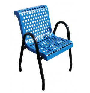 Food Court Chair Perforated Surface