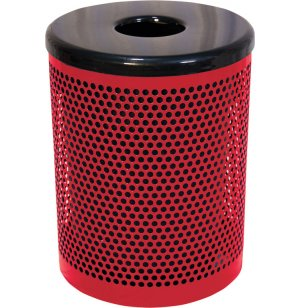 32-Gallon Trash Can Perforated