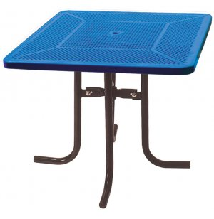 42 Inch Square Food Court Table Perforated Surface