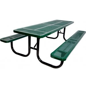 8 Ft Extra Heavy Duty Perforated Picnic Table