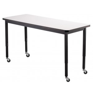 NPS Adjustable Height Utility Table - Whiteboard Top