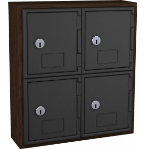 Cell Phone Lockers - Wood Frame, 4 Doors, Keyed Lock