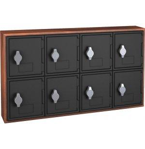 Cell Phone Lockers - Wood Frame, 8 Doors, Hasp Lock