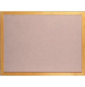 Vinyl Bulletin Board w/Wood Frame