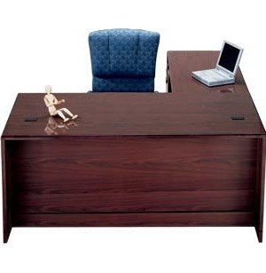 Left Exec L-Shaped Office Desk 3/4 Ped