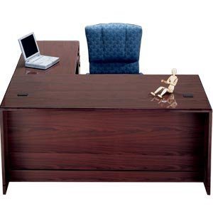 Right Exec L-Shaped Office Desk 3/4 Ped