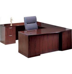 L Executive U-Shaped Desk with Full Pedestal