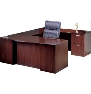 R Executive U-Shaped Desk- Full Pedestal