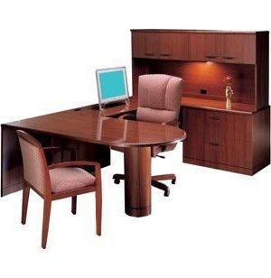 R Peninsula U-Shaped Desk- Full Pedestal