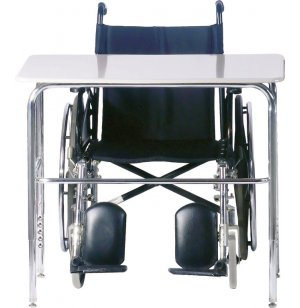 Wheelchair Accessible School Desk - Hard Plastic