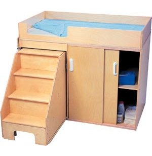 Hertz Customer Service Chat >> Wooden Changing Station with Steps WBC-0648, Changing Tables
