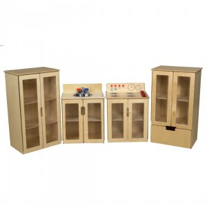 My Cottage Wooden Play Kitchen Set - 4 Piece