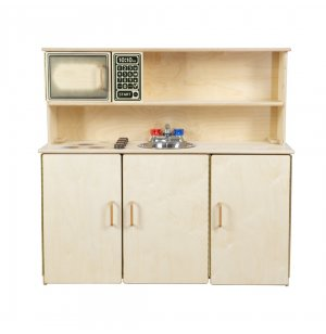 WD 5-N-1 Wooden Play Kitchen Set with Tip-Not Doors
