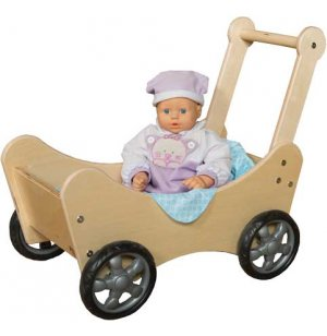 Wooden Baby Doll Stroller