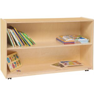 Mobile Wood Preschool Bookshelf