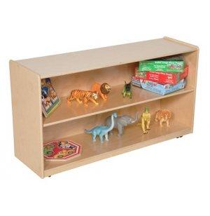 Mobile Wood Adjustable Preschool Bookshelf