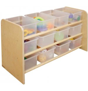 See-All Storage Stand with Translucent Trays