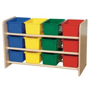 See-All Preschool Bin Rack w/ Cubby Bins