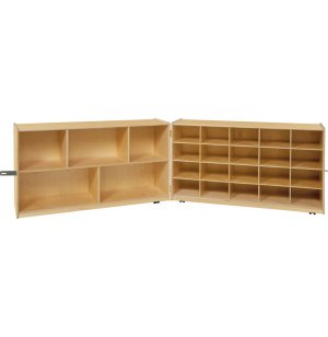 Mobile Cubby Storage Unit w/ 5 Shelves