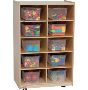 Single Vertical Storage Unit with 10 Clear Trays