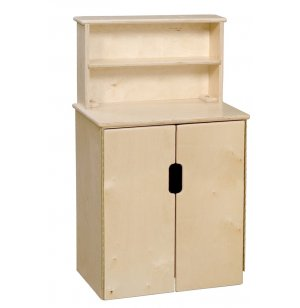 WD Tip-Me-Not Wooden Play Kitchen Cabinet with Hutch