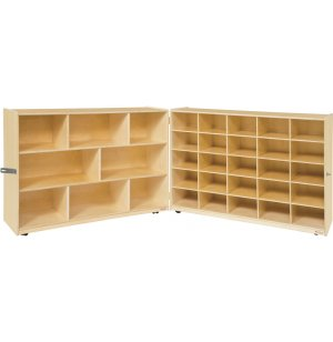 Mobile Classroom Cubby Storage - 5 Shelves