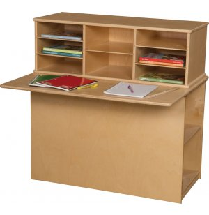 Wood Designs Preschool Writing Center - Single Sided
