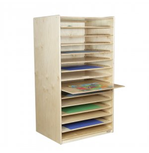 Mobile Wooden Game Paper Puzzle Rack