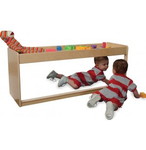 Toddler Cruising Daycare Classroom Storage w/ Mirror