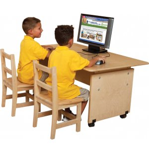 Adjustable Height Classroom Computer Table