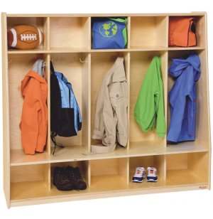 Healthy Kids Preschool Seat Lockers - 5-Section